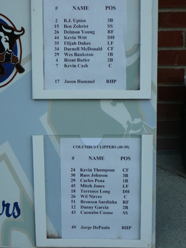 The starting lineups for the game