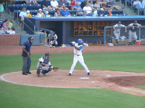 B.J. Upton at bat for the Bulls